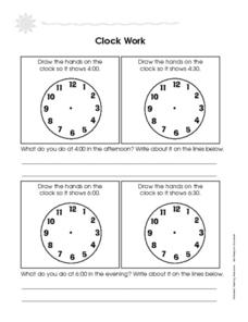 Clock Work: Telling Time Worksheet