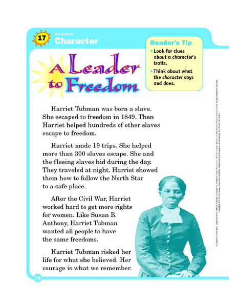 Essay on harriet tubman