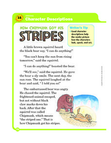 how chipmunk got his stripes lesson plans worksheets. Black Bedroom Furniture Sets. Home Design Ideas