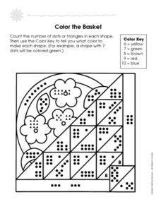 Color the Basket Worksheet