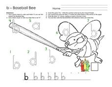 Baseball Bee Worksheet