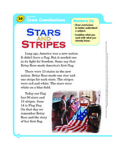 Draw Conclusions: Stars and Stripes Worksheet
