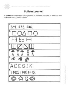 Pattern Learner Worksheet