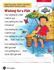 Wishing for Fish - Poetry Worksheet