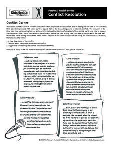 Conflict Corner Worksheet
