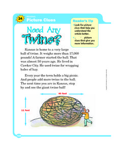 Picture Clues: Need Any Twine? Worksheet
