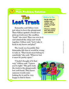 Plot: Problem/Solution-The Lost Truck Worksheet