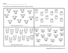 Numbers and Counting 11-14 Worksheet