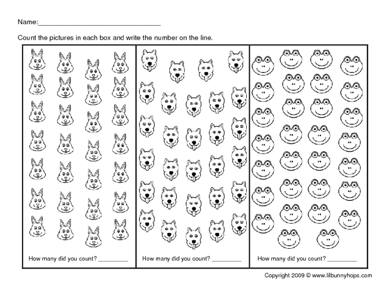 Counting- 1-30 Worksheet For 1st - 2nd Grade