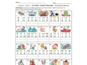 2 Letter Vowel Sounds Worksheet