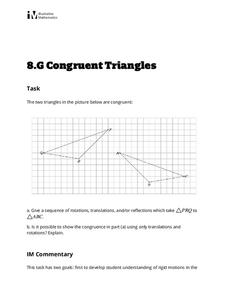 Congruent Triangles Activities & Project