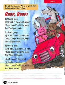 Reading Poetry - Beep, Beep Worksheet