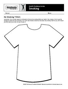 No Smoking T-Shirt Worksheet