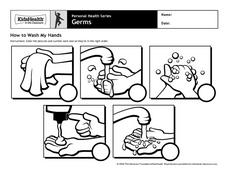 How to Wash My Hands Worksheet