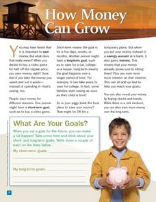 How Money Can Grow Worksheet