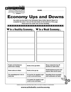 Scholastic News Online Activity: Economy Ups and Downs Worksheet