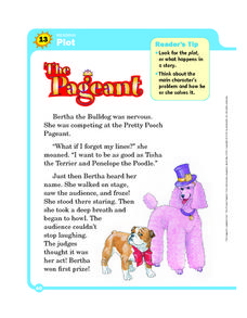 Reading: Plot- The Pageant Worksheet