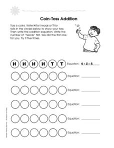 Coin-Toss Addition Worksheet