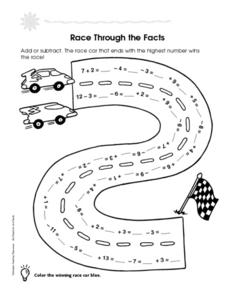 Race Through the Facts Worksheet