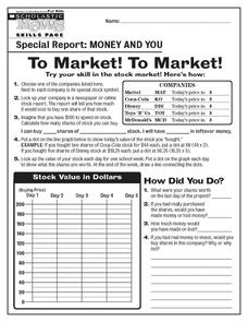 To Market! To Market! 8th - 12th Grade Worksheet   Lesson Planet