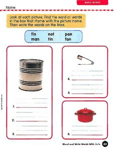 Blend Words: C/K/N Worksheet