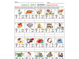 Beginning Sounds and Blends Worksheet