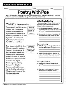 Poetry With Poe Worksheet