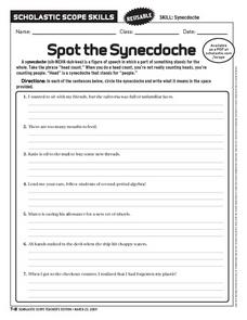 Spot the Synecdoche Worksheet