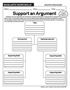 Support an Argument Worksheet