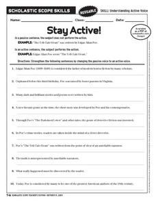 Stay Active! Worksheet
