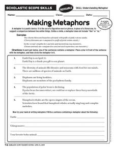 Making Metaphors Worksheet