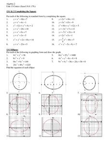 Conics Worksheet