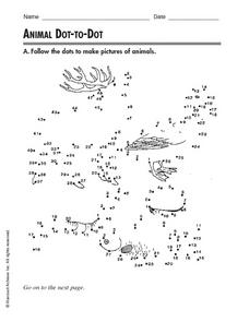 Animal Dot-To-Dot Worksheet