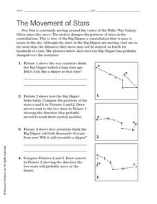 The Movement of Stars Worksheet