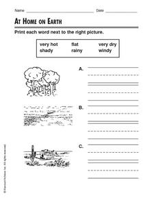 At Home On Earth Worksheet