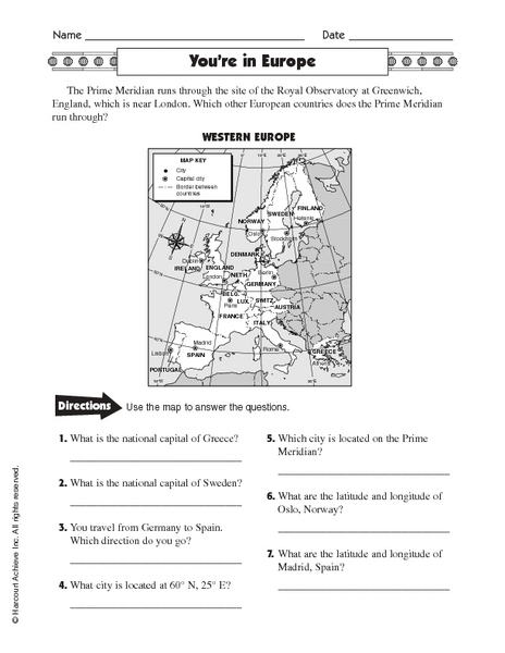 6th grade latitude and longitude worksheets for 6th grade printable worksheets guide for. Black Bedroom Furniture Sets. Home Design Ideas