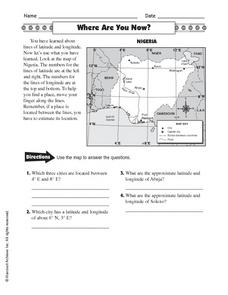 Where Are You Now? Worksheet
