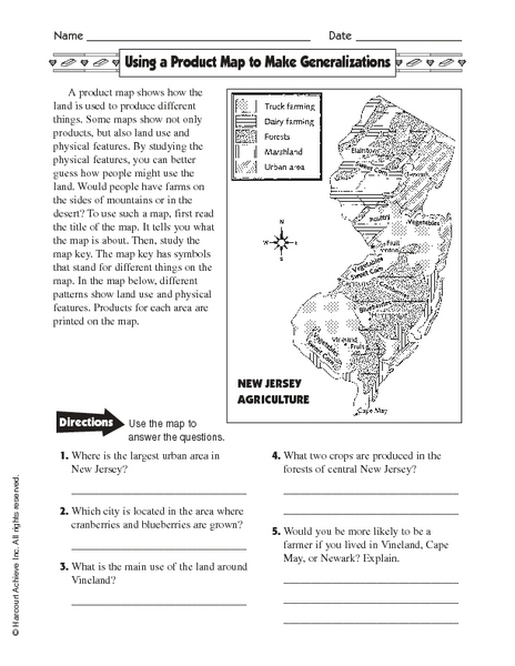 Map Activity Worksheets for First Grade | Homeshealth.info