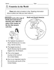 Countries in the World Worksheet