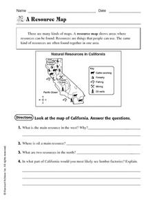A Resource Map Worksheet