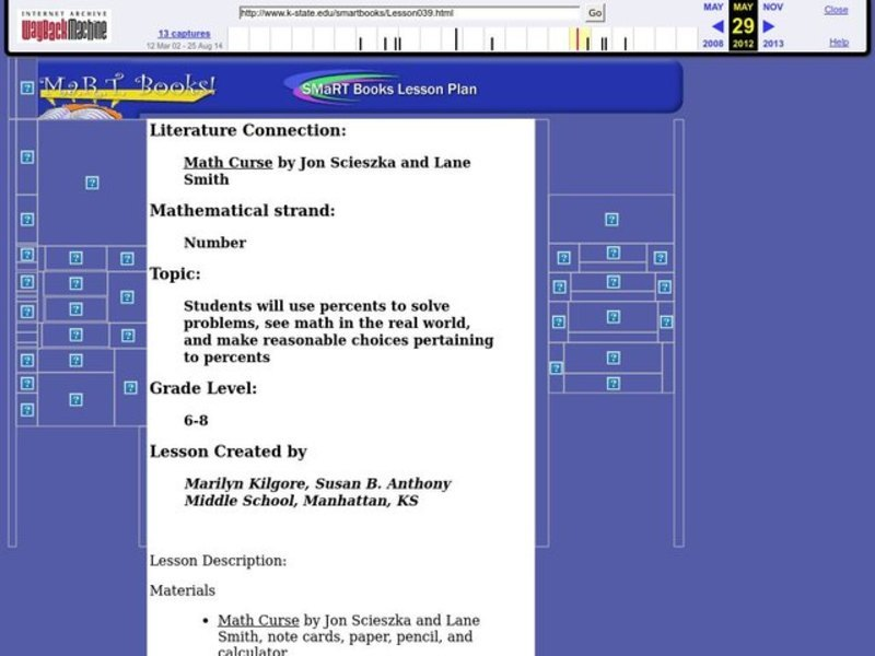 """Math Curse"" by Jon Scieszka and Lane Smith Lesson Plan"