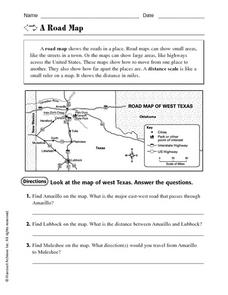 A Road Map Worksheet