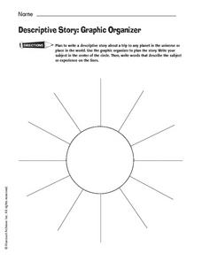 Descriptive Story: Graphic Organizer Worksheet