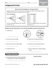 Compound Events Lesson Plans Worksheets Lesson Planet
