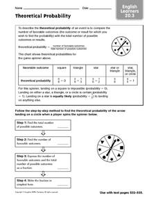 English Learners: Theoretical Probability Worksheet