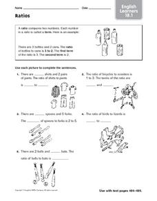 Ratios: English Learners Worksheet
