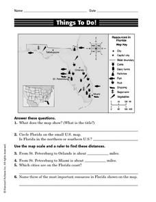 Things To Do! Resource Map Activity Worksheet