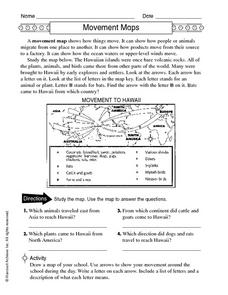 Movement Maps Worksheet