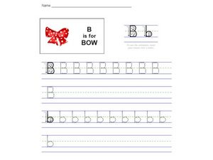 B is for Bow Worksheet