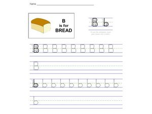B Is For Bread Worksheet